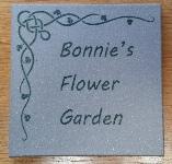 Tile         garden marker
