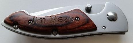 Custom         named knife