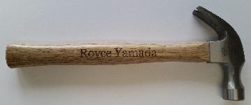 Custom         name on hammer
