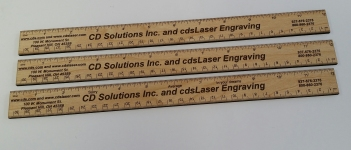 Custom         printed rulers